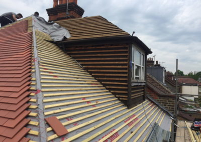 Prep for New Roof, adding new roofing batons and waterproof membrane, dorma window - Banbury Roofing and Paving -